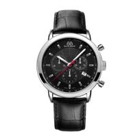 88_Rue_Du_Rhone_Chronograph_Stainless_Steel_Black_Strap_Watch,_42mm