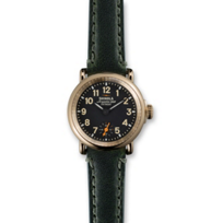 Shinola_Runwell_28mm_Women's_Strap_Watch,_Black_Dial_and_Gold_Tone_Case