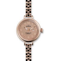Shinola_The_Birdy_34mm_Women's_Bracelet_Watch,_Rose_Tone_Case_and_Bracelet