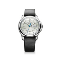 Swiss_Army_Officer's_Mechanical_Strap_Watch,_Silver_Dial