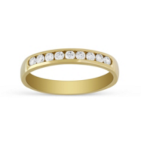 14K_Yellow_Gold_9_Diamond_Channel_Set_Band,_0.25cttw