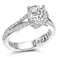 18K Diamond Engagement Ring Setting