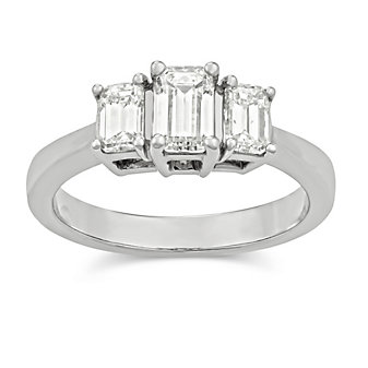 14K_White_Gold_Three_Emerald_Cut_Diamond_Ring,_1.17cttw