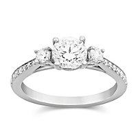 18K Cushion Diamond Ring