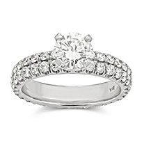 18K Diamond Engagement Ring