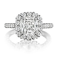 18K Diamond Halo Ring