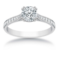 18K_White_Gold_Signature_Round_Diamond_and_Round_Diamond_Ring,_1.06cttw