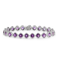14K_White_Gold_Cushion_Checkerboard_Amethyst_Bracelet,_7""