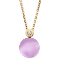 14K_Rose_Gold_Cabochon_Amethyst_and_Round_Diamond_Pendant