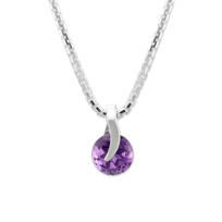 Sterling_Silver_Round_Amethyst_Pendant_With_Chain,_17""