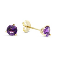 14K_Yellow_Gold_Round_Faceted_Amethyst_Stud_Earrings,_5mm