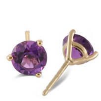 14K_Yellow_Gold_Round_Faceted_Amethyst_Stud_Earrings,_4mm