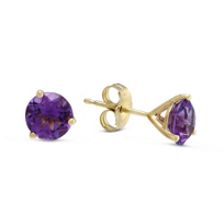 14K_Yellow_Gold_Round_Faceted_Amethyst_Stud_Earrings,_6mm