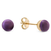 14K_Rose_Gold_Cabochon_Amethyst_Earrings