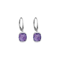 14K_White_Gold_Cushion_Amethyst_and_Round_Diamond_Drop_Earrings