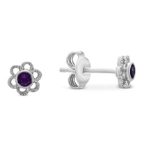 Sterling_Silver_Children's_Amethyst_Flower_Earrings