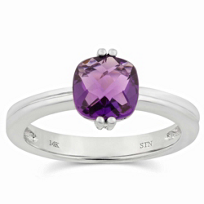 14K_White_Gold_Cushion_Checkerboard_Faceted_Amethyst_Ring
