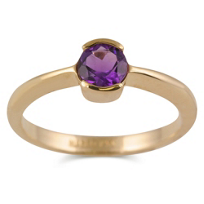 14K_Yellow_Gold_Round_Amethyst_Half_Bezel_Ring