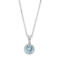 14K_White_Gold_Checkerboard_Round_Aquamarine_Bezel_Set_Pendant,_7mm