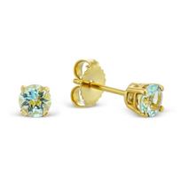 14K_Yellow_Gold_Round_Aquamarine_Stud_Earrings,_0.45cttw