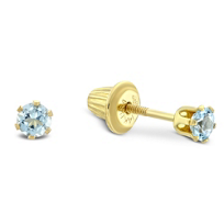 14K_Yellow_Gold_Child's_Aquamarine_Earrings