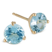 14K_Yellow_Gold_Round_Faceted_Aquamarine_Stud_Earrings,_4mm
