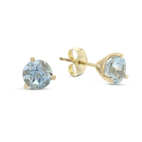 14K_Yellow_Gold_Round_Faceted_Aquamarine_Earrings,_6mm