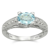 18K_White_Gold_Oval_Aquamarine_and_Round_Diamond_Ring_With_Milgrain