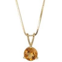 14K_Yellow_Gold_Round_Citrine_Solitaire_Pendant,_5mm
