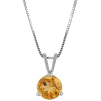 14K_White_Gold_Round_Citrine_Solitaire_Pendant,_6mm