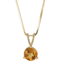 14K_Yellow_Gold_Round_Citrine_Pendant,_6mm