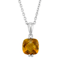 14K_White_Gold_Cushion_Checkerboard_Citrine_Pendant
