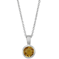 14K_White_Gold_Round_Checkerboard_Bezel_Set_Pendant
