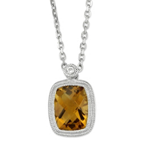 14K_White_Gold_Cushion_Checkerboard_Citrine_and_Round_Diamond_Pendant