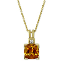14K_Yellow_Gold_Cushion_Citrine_and_Round_Diamond_Pendant