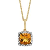 14K_Yellow_Gold_Cushion_Citrine_and_Round_Diamond_Frame_Pendant