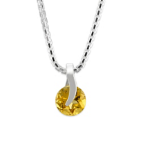 Sterling_Silver_Round_Citrine_Pendant_With_Chain,_17""