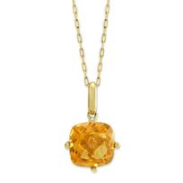 14K_Yellow_Gold_Cushion_Citrine_Pendant