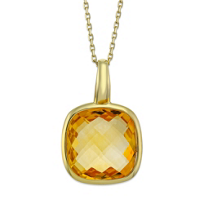 14K_Yellow_Gold_Checkerboard_Cushion_Citrine_Pendant