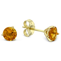 14K_Yellow_Gold_Round_Citrine_Stud_Earrings,_5mm