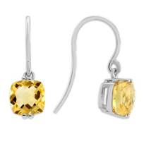 14K_White_Gold_Checkerboard_Citrine_Drop_Earrings