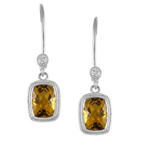 14K_White_Gold_Cushion_Checkerboard_Citrine_and_Round_Diamond_Dangle_Earrings