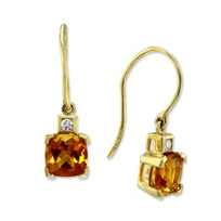 14K_Yellow_Gold_Checkerboard_Cushion_Citrine_and_Round_Diamond_Dangle_Earrings