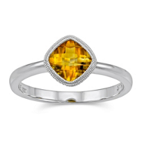 14K_White_Gold_Cushion_Checkerboard_Citrine_Bezel_Set_Ring