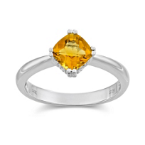 14K_White_Gold_Checkerboard_Cushion_Cut_Citrine_Ring