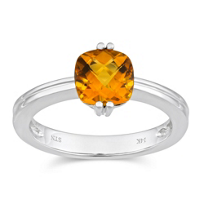 14K_Checkerboard_Cushion_Cut_Citrine_Ring