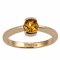 14K_Yellow_Gold_Citrine_Half_Bezel_Ring