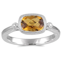 14K_White_Gold_Cushion_Checkerboard_Citrine_and_Round_Diamond_Ring