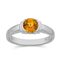 14K_White_Gold_Round_Citrine_Half-Bezel_Ring
