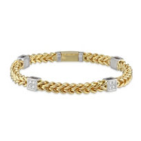 14K_Yellow_and_White_Gold_Bracelet_with_Diamond_Station_Accents,_7.5""